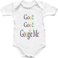 Google Goo Goo Baby Grow Shirt Babygro ipod Cute Funny Internet Onesie Romper