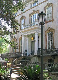 The Noble Hardee House. 3 West Gordon (corner of Gordon & Bull), Savannah, GA. Southern Homes, Southern Belle, Southern Charm, Southern Sayings, Southern Girls, Southern Living, Foyers, Savannah Historic District, Downtown Savannah