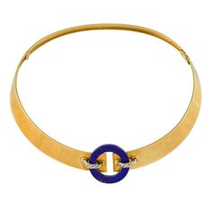 CARTIER Lapis Collar | From a unique collection of vintage more necklaces at http://www.1stdibs.com/jewelry/necklaces/more-necklaces/
