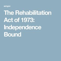 rehabilitation act of 1973 pdf