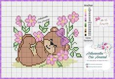 Cross Stitch Boards, Cross Stitch Fabric, Simple Cross Stitch, Cross Stitch Baby, Cross Stitch Animals, Cross Stitching, Cross Stitch Embroidery, Cross Stitch Designs, Cross Stitch Patterns