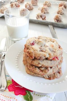 Cherry, Chocolate Chunk and Marshmallow Cookies...aka Reed's Pantry Cookies