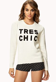 Tres chic sweater from forever21! super cute and trendy fashion.
