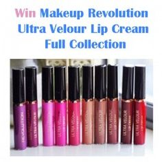 Win Makeup Revolution Ultra Velour Lip Cream Full Collection ^_^ http://www.pintalabios.info/en/fashion-giveaways/view/en/3193 #International #MakeUp #bbloggers #Giweaway
