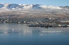 Akureyri in winterclothes