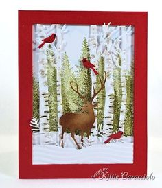 Birch Trees Birds Metal Die Cut stencil Impression Obsession craft Cutting Dies for sale online Christmas Scenes, Christmas Deer, Christmas Crafts, Christmas Costumes, Winter Christmas, Xmas Cards, Holiday Cards, Impression Obsession Cards, Christian Christmas
