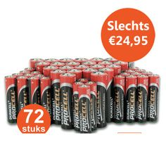 Vandaag bij OneDayOnly: 72 Duracell Batterijen voor slechts €24,95! Keuze uit AA of AAA, bestel vandaag op www.onedayonly.nl!