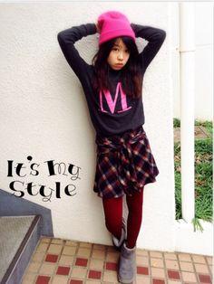 こんにたわー❤︎ たくさんのgood.コメント.watchありがとうございます❤︎ 今日のは久々の投稿です、学校が早く終わったので、今から学校の友達と遊びにいってきまーす❤︎  ✴︎Forever21のMセーターにGRLのネルシャツ風キュロットスカート袖を前で結ぶデザインにボルドーのタイツとピンクのニット帽❤︎ 足元はSaayanのGUのムートンブーツ❤︎  妹のSaayanも別でコデスナやってます。 みなさーんgoodお願いします❤︎ Saayanはgood大好きです༘*(∗❝̆ ॣᵌ ॣ❝̆) യ⁺‧♡や