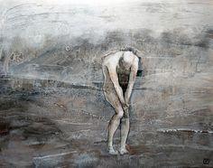 Pauvre Donald - répertoire n° 1658 - by Philippe Chesneau - Dim. 54 x 70 cm - Acrylique et encre sur papier Yupo marouflé sur panneau bois