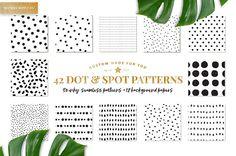 Dot & Spot Patterns by PatternSupplyCo on @creativemarket