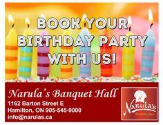 Narula's Banquet Hall - Book Your Birthday Party In Hamilton