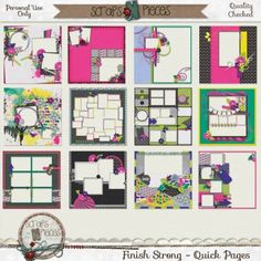 Finish Strong - Quick Pages - PU only