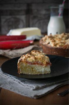 Rhabarber-Frischkäse-Kuchen © Ich machs mir einfach