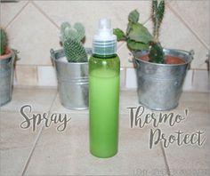 Un spray thermo'protect, pour protéger vos cheveux de la chaleur des sèches-cheveux et des fers à lisser et à friser