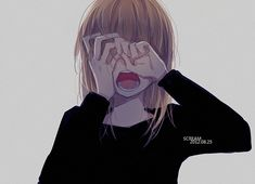 Super Ideas For Drawing Faces Sad Anime Girls Anime Girl Crying, Sad Anime Girl, Anime Life, Sad Girl, Girl Crying Drawing, Manga Girl, Manga Anime, Anime Art, Blondes Anime Girl