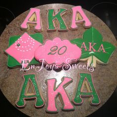 AKA Birthday Cookies #enjoyasweets #AKAcookies