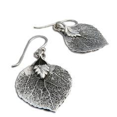 Bodhi Leaf Earrings, Pipal Leaf Earrings