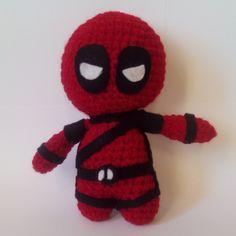 Deadpool handmade toy Weight 150 G  Length 17.0 CM (~6.7 in.)  Width 12.0 CM  (~4.7 in.)