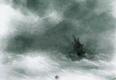 'forte vent', 1856 de Ivan Aivazovsky (1817-1900, Ukraine)