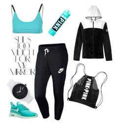 """Hit the Gym"" by ana-coelholemos on Polyvore featuring Onzie, NIKE, Rika, Nixon, workout and gym"