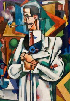 Amadeo de Souza Cardoso (Portuguese, Untitled (Portrait of Paul Alexander), 1917 Fernand De Magellan, Pop Art, Modernisme, Georges Braque, Art Database, Les Oeuvres, Art Museum, Illustration, Art History