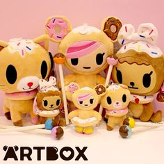 "Have you been on ARTBOX.co.uk recently? We have added loads of new goodies online! Including these adorable Tokidoki friends 🍩 Donutella, Biscottino and Donutina are now available as small plush and keychains! They're super soft and perfect for cuddling 💓 If you love Tokidoki be sure to check out our ""New"" page as it's currently filled to the brim with plush Unicornos and Mermicornos too! #artboxuk #kawaii #tokidoki #donutella #donutina #biscottino #kawaiiplushie #keychains #doughnut #kitt"