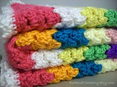 Hey, I found this really awesome Etsy listing at https://www.etsy.com/listing/86670007/crocheted-babytoddler-blanket-colorful