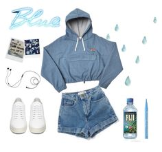 """""""Blue Rain"""" by lilyjey ❤ liked on Polyvore featuring Seletti, Polaroid, Off-White, Marshall and Too Faced Cosmetics"""