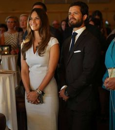 Prince Carl Philip and Princess Sofia attended a charity gala dinner for the big Project Playground in Örnsköldsvik, Sweden on August 29, 2015.