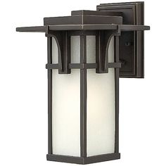 Hinkley Lighting Small Etched Seedy Manhattan Outdoor Wall Sconce at Lumens.com