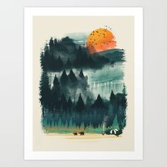 Buy Wilderness Camp Art Print by dan elijah g. fajardo. Worldwide shipping available at Society6.com. Just one of millions of high quality products available.