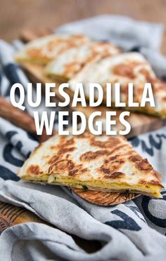 Chef Chris Santos prepared sweet and savory Quesadilla Wedges for Rachael Ray's show. http://www.recapo.com/rachael-ray-show/rachael-ray-recipes/rachael-ray-chris-santos-quesadilla-wedges-recipe-whole-world-water/