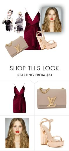 """""""GET THE LOOK"""" by margherita994 ❤ liked on Polyvore featuring Boohoo, Louis Vuitton, Charles David, outfit and dress"""