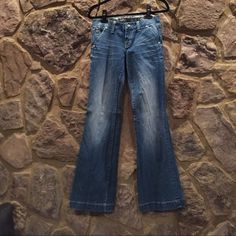 Miss Me wide leg jeans Miss Me wide leg jeans- excellent condition- factory distressed Miss Me Jeans Flare & Wide Leg