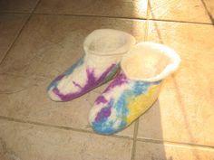 Age 13 ~ Handwork ~ Wet Felted Slippers ~ Supplies