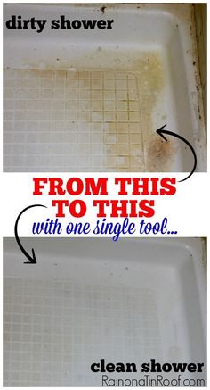 This technique for cleaning a shower took off years of grime - and it was chemical-free! Great cleaning tip!