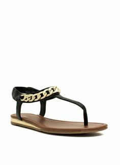 Can't Chain-ge Me Faux Leather Sandals