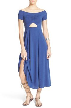 Free People 'Dance with Me' Off the Shoulder Fit & Flare Dress