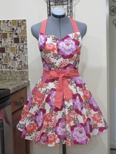 Sweetheart Style MeadowSweet Apron  OOAK With by ApronsByVittoria, $38.00