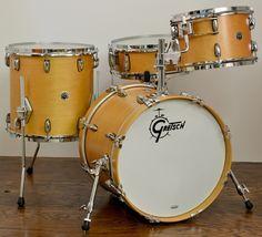 Gretsch Brooklyn Series 18/12/14/5x14 Natural Maple Drum Set.