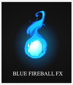 Blue FireBall FX by AlexRedfish.deviantart.com on @deviantART