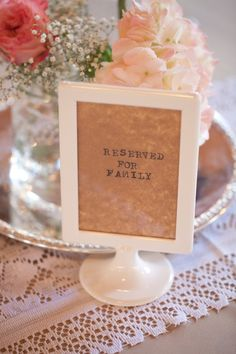 Reserved for Family