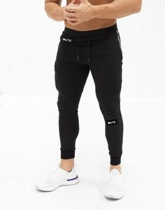 Mens Designer Gym Bottoms Workout Gear, Lounge Wear, Joggers, Black Jeans, Fitness Gear, Gym, Athlete, Pants, How To Wear