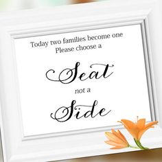Wedding sign signs s Decoration Choose A Seat Not by weddingfusion