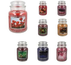 VILLAGE CANDLES 170 HOURS BURNING TIME CANDLE JAR WITH  2 WICK STYLE- 14621