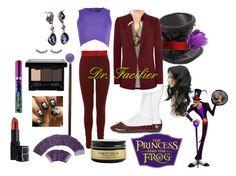 Dr Facilier Halloween Disneybound Costume by bijouxetsoirees on Polyvore featuring River Island, Topshop, Dolce&Gabbana, NYX, NARS Cosmetics, Revlon, shu uemura and Schönbuch