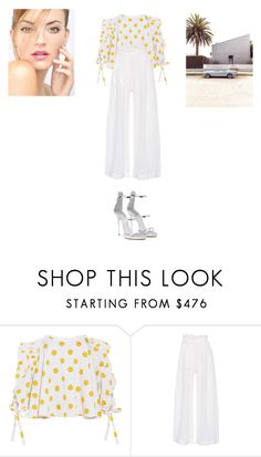 """Sans titre #10578"" by ghilini-l-roquecoquille ❤ liked on Polyvore featuring Caroline Constas, Three Graces and Giuseppe Zanotti"