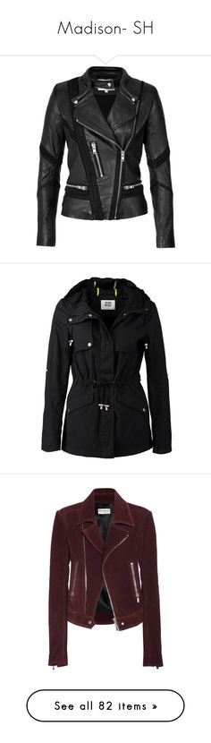 """""""Madison- SH"""" by inestrindade on Polyvore featuring outerwear, jackets, rider leather jacket, genuine leather jackets, leather jackets, slim leather jacket, leather motorcycle jacket, coats, black and vero moda coats"""