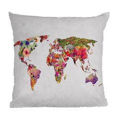 DENY Designs Bianca Green It's Your World Throw Pillow //