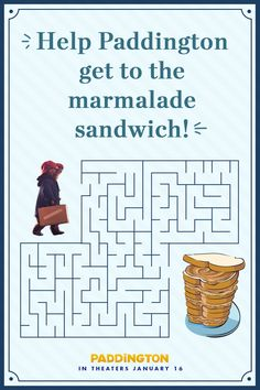 This won't stop Paddington for long! Can you help him get to his absolute favorite meal? | Paddington